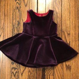 12 month baby girl dress purple velveteen